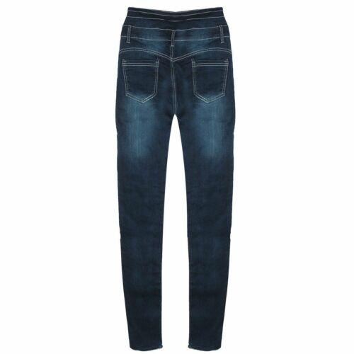 US Women Denim Skinny Ripped Pants High Waist Stretch Jeans Long Pencil Trousers