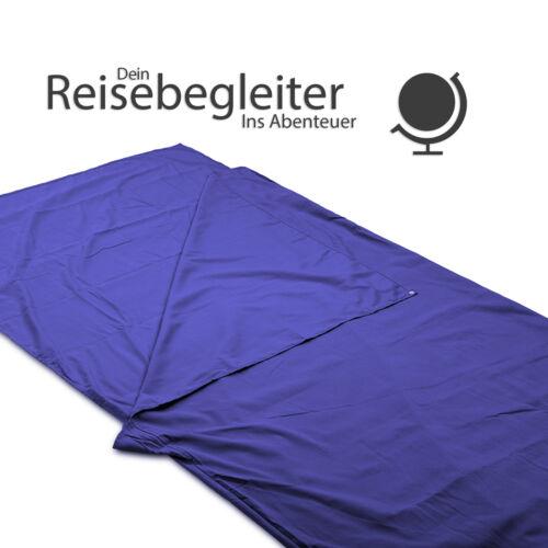 EAZY CASE Mikrofaser Schlafsack Hüttenschlafsack Reise Deckenschlafsack Blau