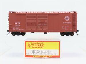 HO-Accurail-3627-1-WM-Western-Maryland-40-039-Double-Door-Box-Car-30057-Custom