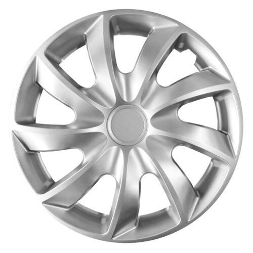 "Set of 16/"" Wheel Mic hubcaps for Vauxhall Vivaro-Silver"