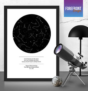 Image Is Loading Personalised Star Sky Map Print Perfect Gift Birthday