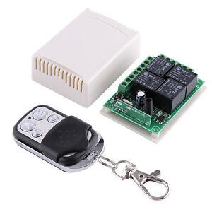 dc12v 4 kanal 433mhz funk empf nger relais schalter. Black Bedroom Furniture Sets. Home Design Ideas