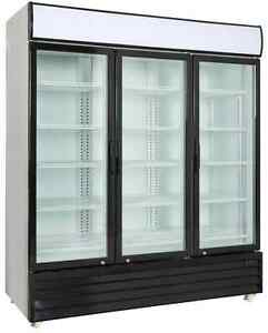 Commercial 3 Glass Door Merchandiser Upright Refrigerator Cooler