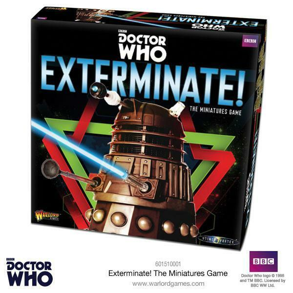 WARLORD GAMES - DR WHO - EXTERMINATE  - THE MINIATURES GAME - FREEPOST