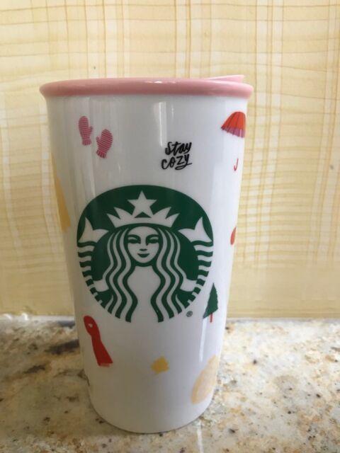 2018 New Starbucks + Ban.Do  Double Wall Ceramic Tumbler 12 oz Now In the USA!