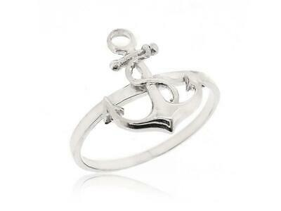 925 Sterling Silver Anchor Nautical Ring For Women Teen