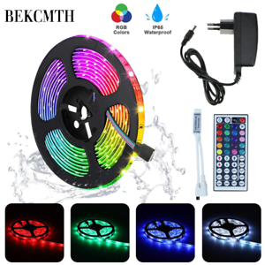 RGB-LED-bande-lumineuse-5M-10M-etanche-RGB-bande-DC-12V-ruban-diode-ampoules-LED