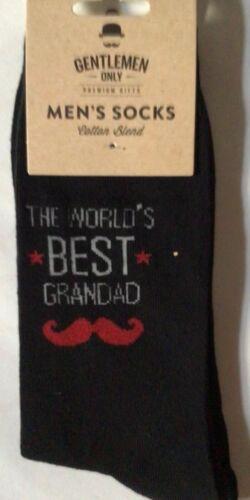 Homme Chaussettes Noires avec le meilleur grand-père dans le monde Idéal pour Fête des Pères