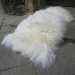 Veritable-tapis-en-peau-de-mouton-ivoire-tres-epais-laine-XL-120cm-jusqu-039-a-super-xxl-150-cm