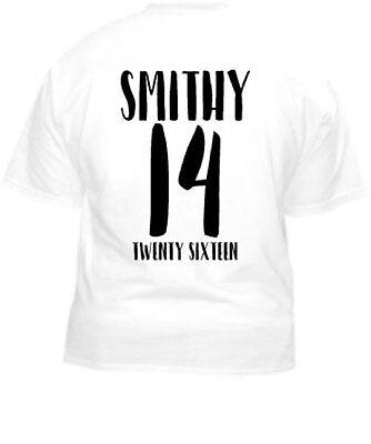 Ragazzi Vacanza T-shirt retro football shirt stile Personalizzato Stampato T-shirt