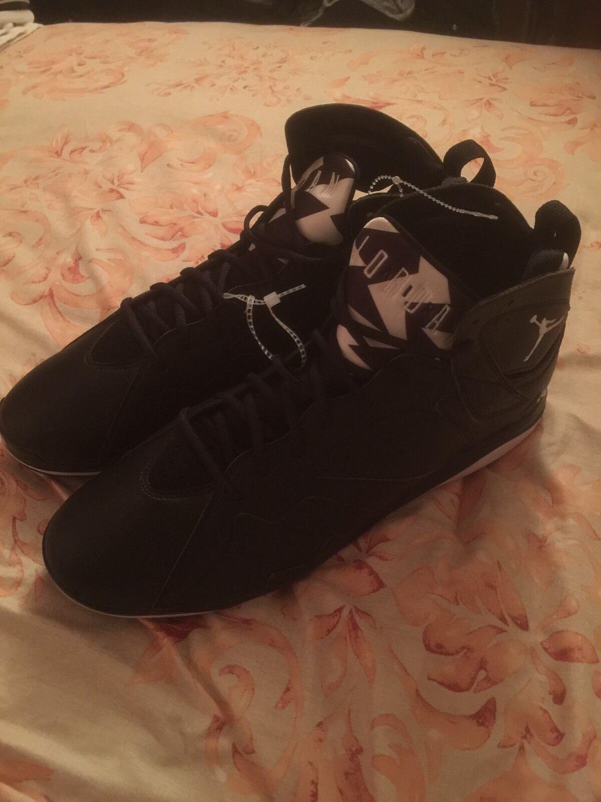 Nike air jordan 7 retrò mcs baseball 16 metà scarpe da baseball mcs 684942 010 nero 8f7a2c