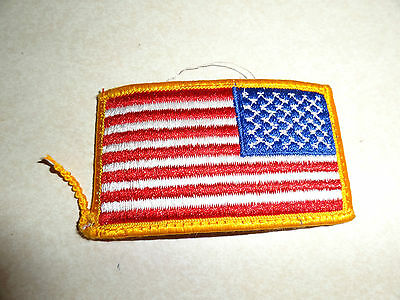 MILITARY PATCH US ARMY SEW ON SHOULDER COMBAT USED AMERICAN FLAG REVERSE FACING