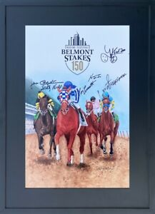 2018 Belmont Stakes Triple Crown Print featuring Secretariat, Signed 6 Times