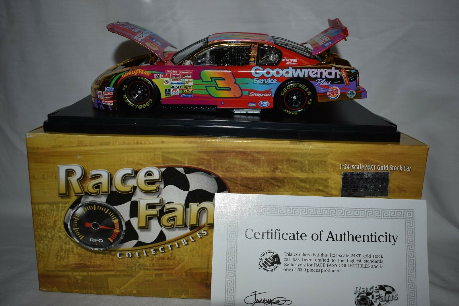 Action 1:24 Dale Earnhardt GM Goodwrench PETER MAX  24 KT oro Series 1 of 2000