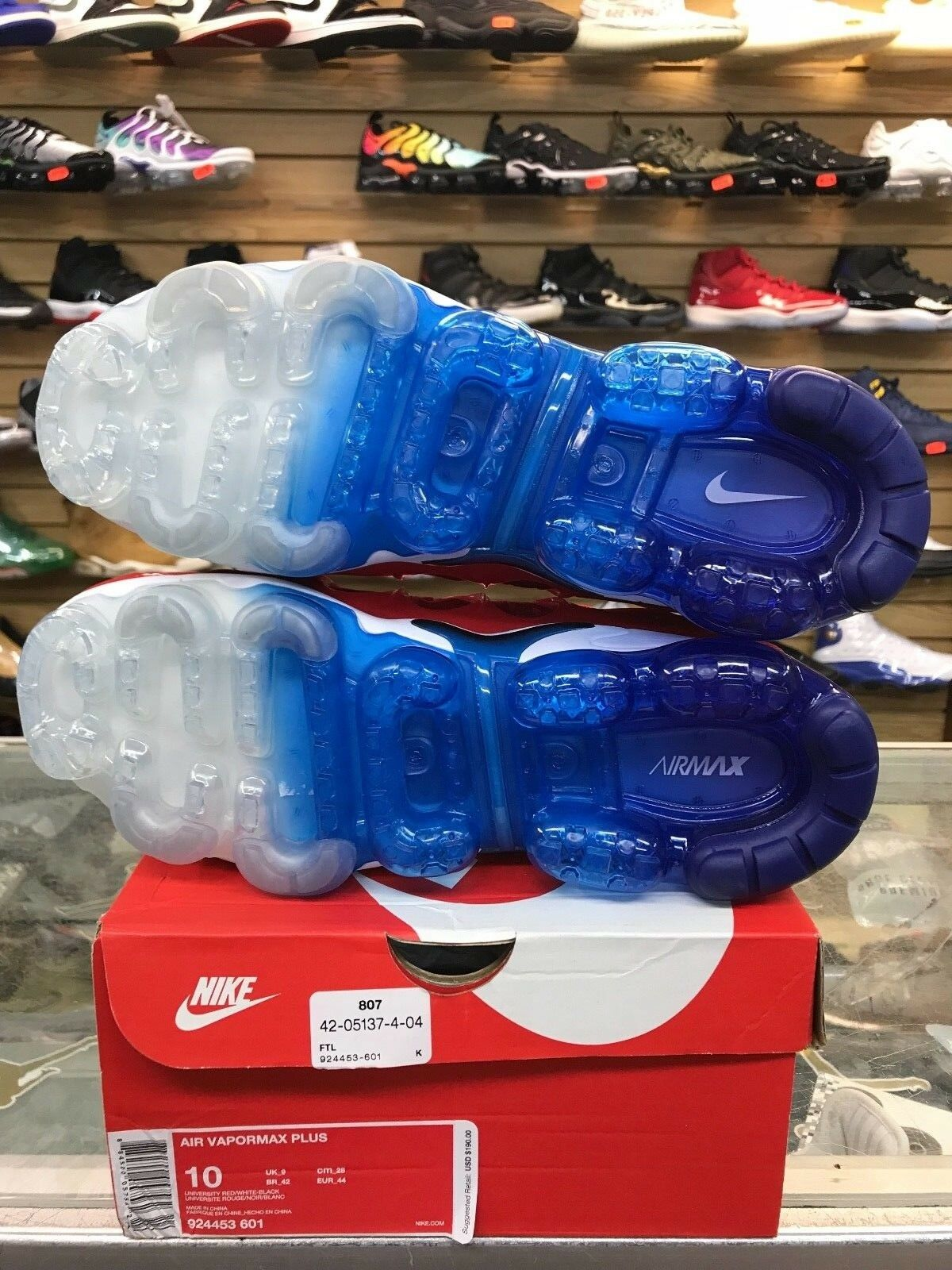 2018 Nike Air Vapormax Plus USA University Red White Blue BLK 924453 601 10