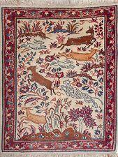 Sarouk Teppich Orientteppich Rug Carpet Tapis Tapijt Tappeto Alfombra Tiere Rar