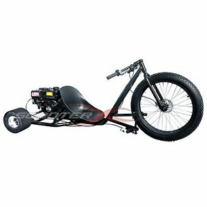 Details about 2019 Drift Trike Big Wheel Gas Scooter Disk Brake Auto 6 5 HP  Engine Steel Frame
