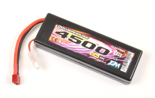 T2M Powerhouse CAR Li-Po Akku 2S Pack 7,4 V 4500 mAh 25C T1345002C