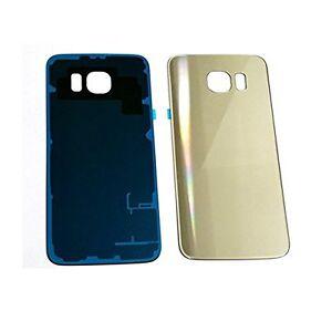 Samsung-Galaxy-S6-Edge-Vetro-Cover-Retro-Batteria-Copertura-Posteriore-Gold