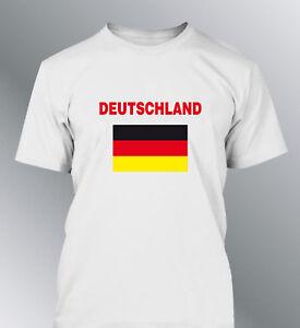tee shirt allemagne euro monde football homme drapeau deutschland flag germany ebay. Black Bedroom Furniture Sets. Home Design Ideas