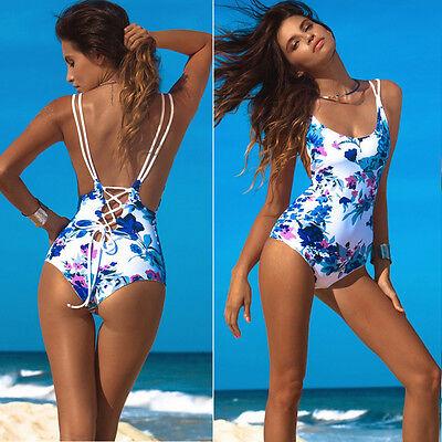 Women Sexy Floral Bandage Bikini Monokini Swimsuit Swimwear Bathing Beachwear