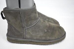 f4c2530c06d UGG Australia Women's Classic Mini Short Gray #5854 Suede Ankle ...