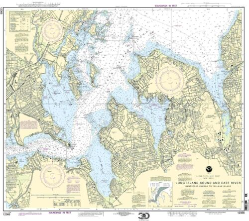 NOAA Chart Long Island Sound and East River Hempstead Harbor to Tallman Island