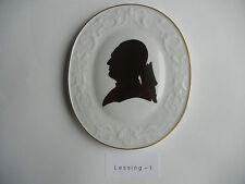 Meissen Plakette Gotthold Ephraim Lessing (meine Pos-Nr. 1)