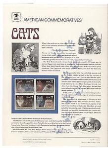 2372-75-22c-Cats-Block-USPS-304-Commemorative-Stamp-Panel