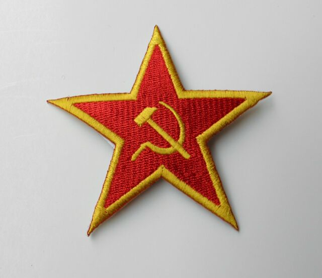 RUSSIAN RUSSIA SOVIET STAR EMBROIDERED LOGO ARM PATCH 4 INCHES