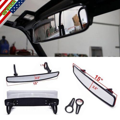 "Universal 1.75/"" Clamp  UTV 15/"" Rear View Race Mirror Polaris RZR800 XP900 XP1000"