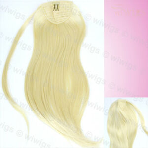 Wiwigs-Pale-Blonde-1-Piece-Straight-Clip-In-Ladies-Ponytail-Wrap-Hair-Extension