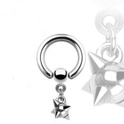 316L Surgical Stainless Steel CBR with Multi-Spiked Ball Dangle
