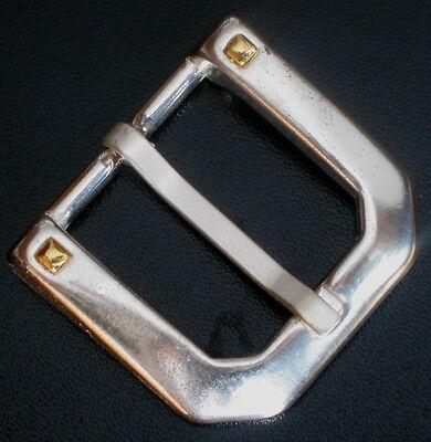 1a Cintura Fibbia Nuovo Per 3cm Larghezza Cintura Colore: Bicolor Metallo Oro-argento!-mostra Il Titolo Originale