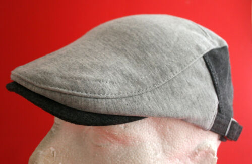 59 cm Large Free size Light Grey Mens Flat Cap One size fits all