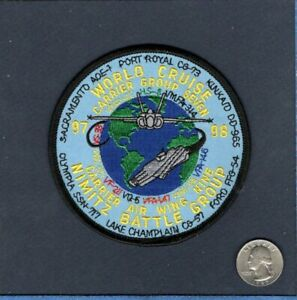 Details about CVN-68 USS NIMITZ VFA-147 CARGRU 97 98 WORLD CRUISE US Navy  Squadron Patch