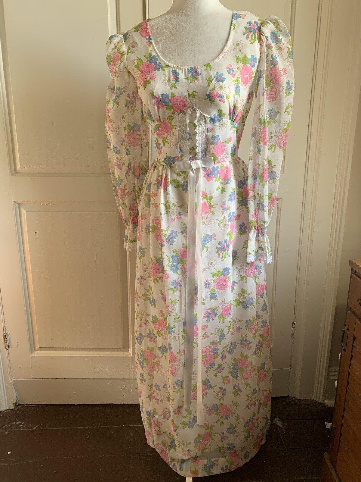 Vintage Prairie Dress ~ Gunne Sax Style ~ Cottage… - image 1