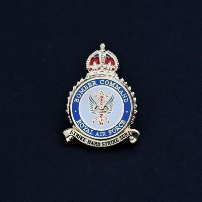 RAF- ROYAL AIR FORCE BOMBER COMMAND LAPEL BUTTERFLY BADGE                (M41)