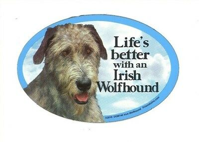 """Life/'s better with a Silky Terrier 6/"""" x 4/"""" Oval Magnet Made in the USA"""
