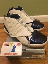 1a0cf0205aa992 item 3 2001 NIKE AIR JORDAN XVI XV1 16 WHITE NAVY BLUE BLACK Size 12 -2001  NIKE AIR JORDAN XVI XV1 16 WHITE NAVY BLUE BLACK Size 12