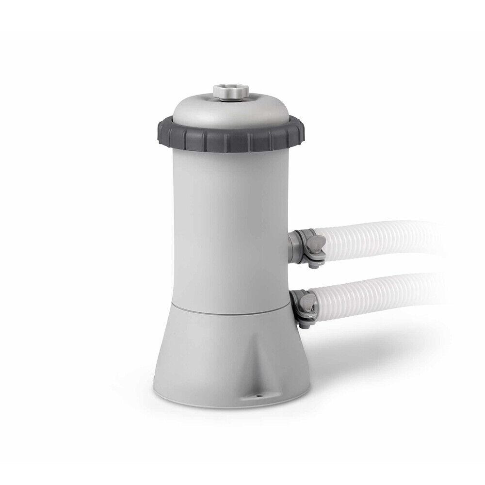 INTEX 26732 Grey 18ft Prism Frame Round Above Ground Pool 549x122 cm Filter Pump