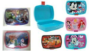 Lunchbox-Brotdose-Brotbox-Disney-Cars-Micky-Minnie-Princess-Avengers-Frozen-NEU