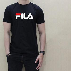 cbea8e552 FILA FAMOUS COOL LOGO graphic tee men black t-shirt 100% cotton ...