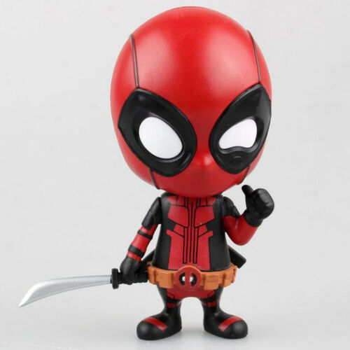 10cm Deadpool Figure Toys Fighting avengers Gesturing Bobble head Car Decor Toy