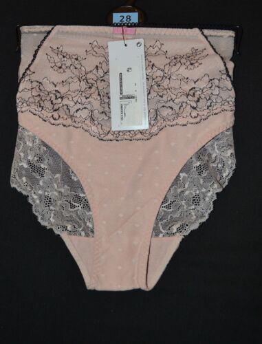 MARKS AND SPENCER LADIES CAGED LACE COLLECTION BRAZILIAN BRIEFS SIZE 28 PINKMIX