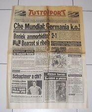 Tuttosport MONDIALI SPAGNA 1982 Che Mundial Germania KO 17 giugno Fifa world Cup