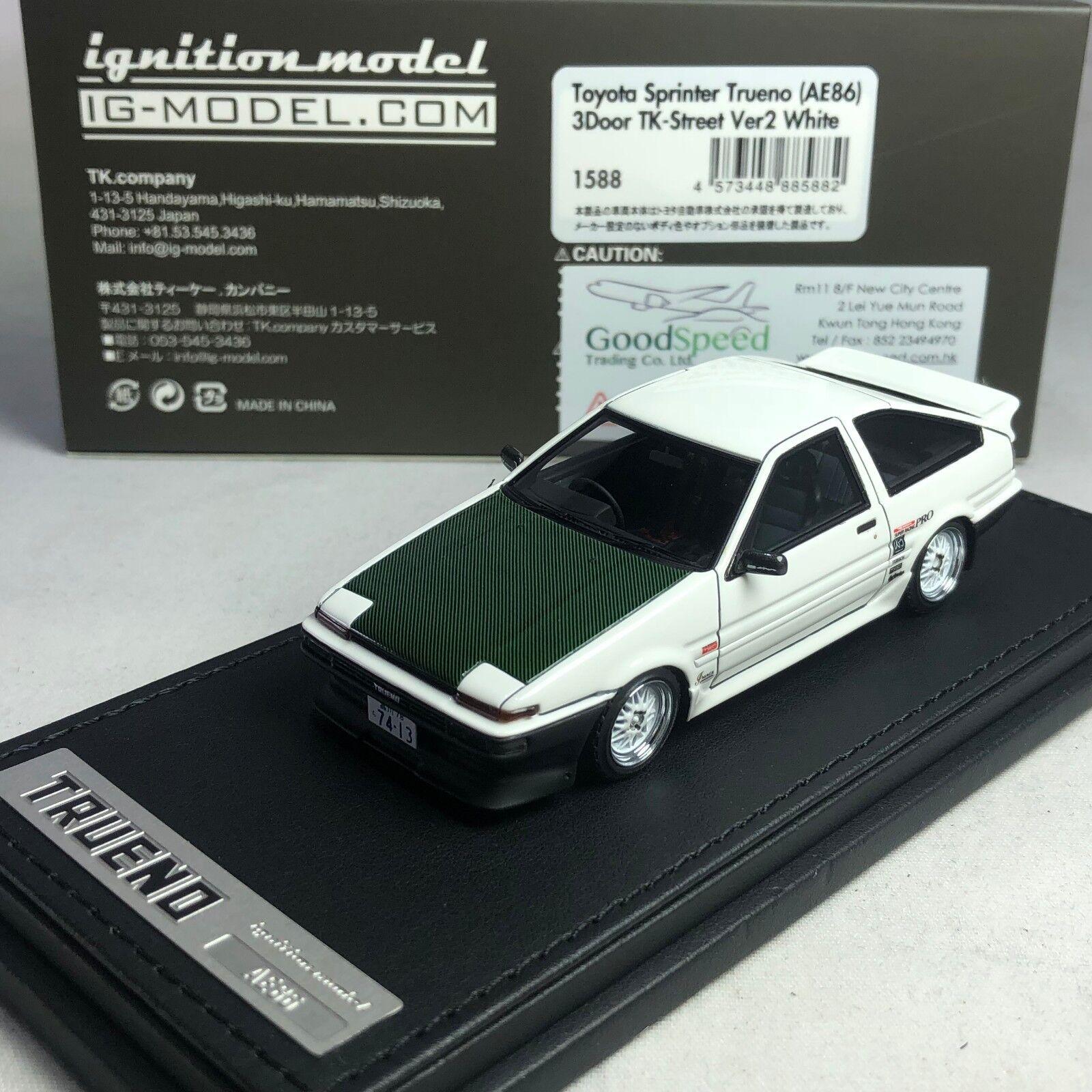 1/43 Hpi IG de encendido Toyota Sprinter Trueno (AE86) 3 puertas TK-Street Ver.2 IG1588