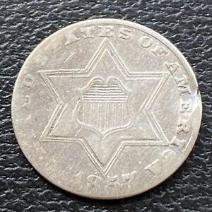 1857 Three Cent Piece Silver Trime 3c Higher Grade  #29485