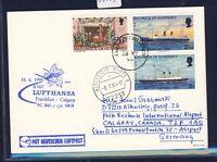 56003) LH FF Frankfurt - Calgary Canada 15.6.96, Karte GB / UK Guernsey