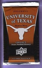 2011 Upper Deck University of Texas Football Trading Card Pack from Box!